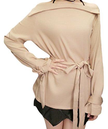 erdbeerloft - Camiseta de manga larga - Opaco - para mujer albaricoque