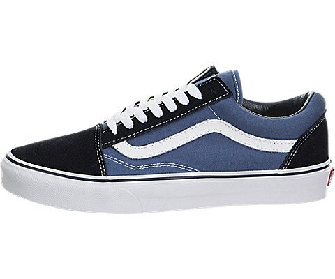 Vans Unisex Old Skool(tm) Core Classics Navy Sneaker Men's 9.5, Women's 11 Medium (Stripe Mens Boots Side)