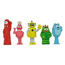 Yo Gabba Gabba Gang 5 Piece collectors set 2013:Muno Brobee Toodee Foofa & Plex