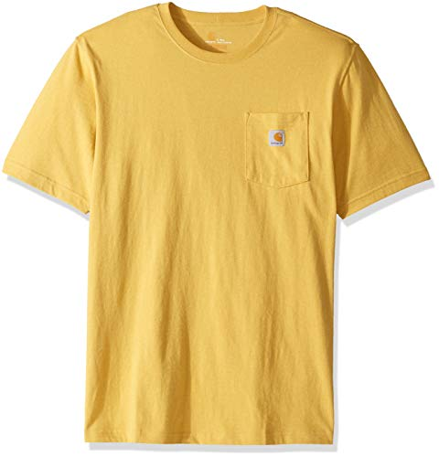 (Carhartt Men's Big and Tall K87 Workwear Pocket Short Sleeve T-Shirt (Regular and Big & Tall Sizes), Misted Yellow Heather, 3X-Large)