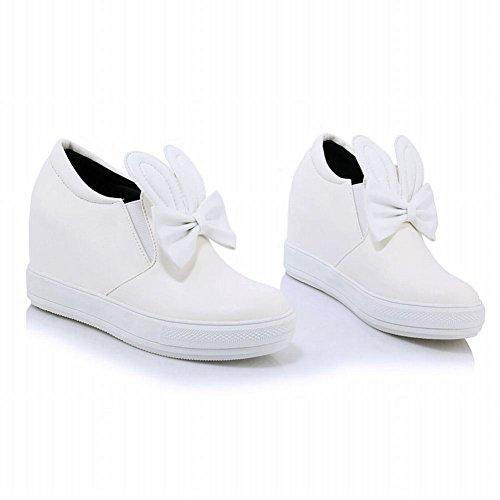 Carolbar Womens Cute Bows Adorable Bunny Ears Sweet Hidden Heel Cosplay Shoes White B3Qly