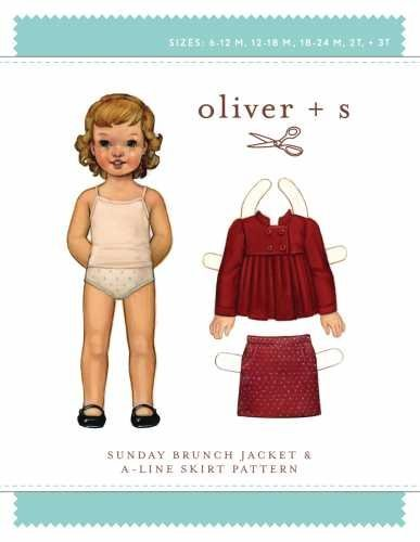 (Oliver + S - Sewing Pattern Girls Sunday Brunch Jacket Coat and A-line Skirt Kids Children Sizes 6MO-3T (Oliver+S-OS009SB1))
