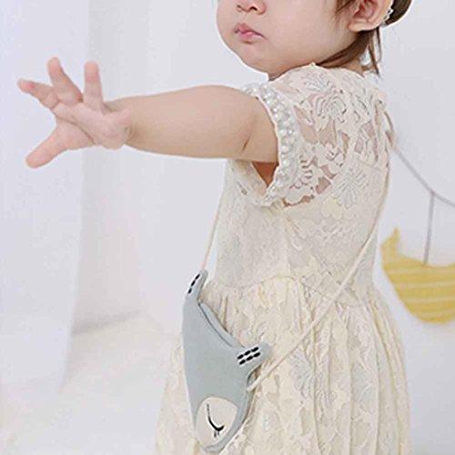 SMARTLADY Bebé Niña Bolso Bandolera Zorro Diseño Algodón Paño Moda Linda Bolsos de Hombro Azul