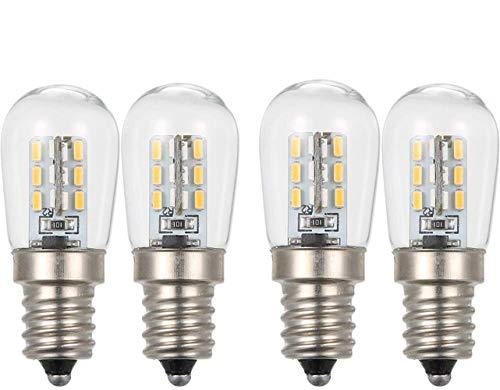 Lixada LED mini koelkast licht koelkast lamp E12 gloeilamp socket houder SMD3014 (wit, 4 stuks)