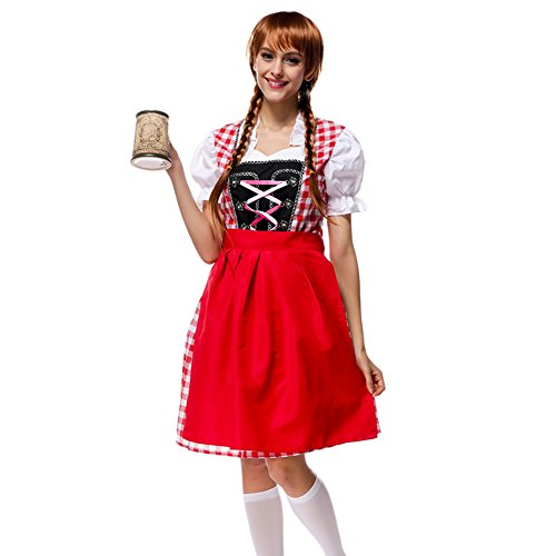 Oktoberfest Beer Maid Wench German Bavarian Dress Costume (Sexy Beer Maiden Costume)