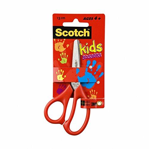 "Scotch Kids Scissors, 1 Pair, Blunt, Stainless Steel, Red, 5.1"""