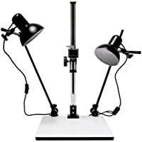 Albinar High Load 28 Copy Macro Stand with 15.75x19 Base, Quick Release Mount and Lights