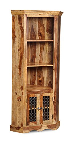 Jali Furniture Wooden Corner Display Cabinet   Living Room Furniture Part 96