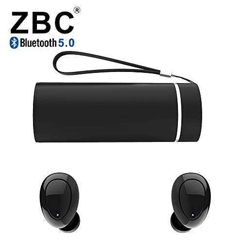 ZBC Wireless Earbuds Bluetooth Earphones 5.0 Headphones Headsets In-Ear TWS Auto-Pair Airpods Mic Charging Case Sport Running Mini True Stereo Sound High Noise Canceling Compatible iOS Android Samsung