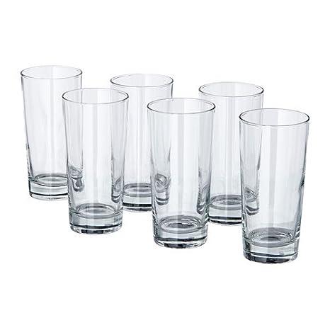 Amazoncom Ikea Beer Glass 6 Pack 20092107 6 Glassware