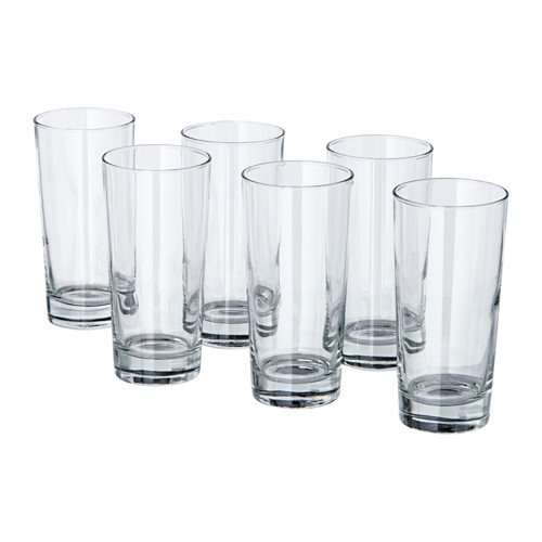 IKEA Godis Glass, clear glass / 6-pack / IKEA Godis -14 oz. - 6 Pack by IKEA