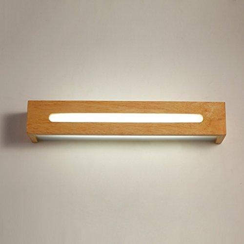 JSJ - Lámpara de espejo de baño led creativa lámpara de escaleras de escalera nórdica lámparas de maqueta de dormitorio de moda lámpara de pared de madera ...