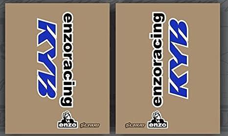 JFG RACING Decalcomanie forcella anteriore moto Ammortizzatori Kit adesivi per dirt bike confezione da 4 KYB