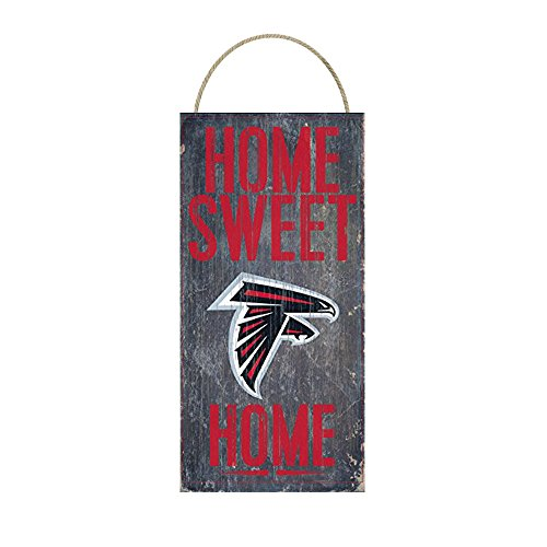 Team Home Sweet Home Distressed Vintage Wood Sign for Fan Wall Decor CHOOSE YOUR TEAM!!! (Atlanta Falcons)
