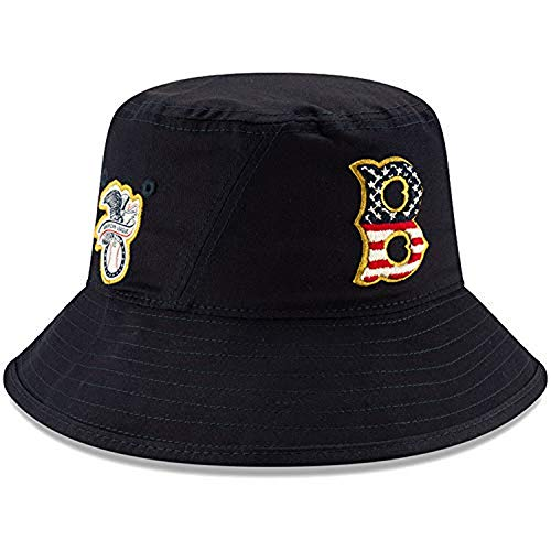 New Era Boston Red Sox 2019 Stars & Stripes 4th of July Bucket Cap Hat One Size Fits Most
