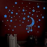 Clothful  A Set Kids Bedroom Fluorescent Glow in The Dark Stars Wall Stickers