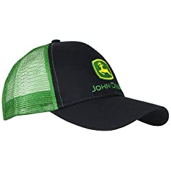 John Deere Embroidered Logo Mesh Back Baseball Hat - One-Size - Men's - Black