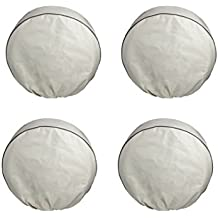 "RORAIMA Signature 4 PCS RV Tire Cover Protect Your RV,Camper, SUV, Keep Your Truck Tire away from UV Rays or High Tempreture, Fits Tire Diameter 26""-28.75"" Beige Color"