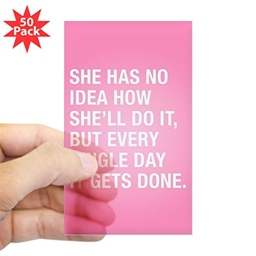 CafePress - She Has No Idea - Sticker (Rectangle 50 pk) by CafePress