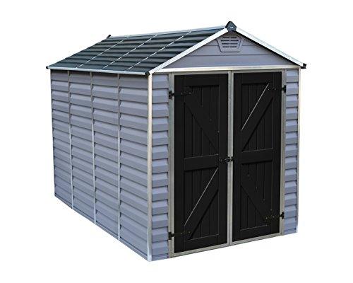 Aluminum Storage Sheds (Palram SkyLight Storage Shed, 6' x 10', Gray)