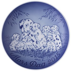 Bing & Grondahl 1902715 Mother's Day Plate 2015, Dalmatian with ()