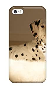 iphone 4s Case Cover - Slim Fit Tpu Protector Shock Absorbent Case (dalmatian)