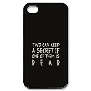CTSLR TV Show Pretty Little Liars Hard Case Cover Skin for Apple iPhone 4/4s- 1 Pack - Black/White - 2- Perfect Gift for Christmas