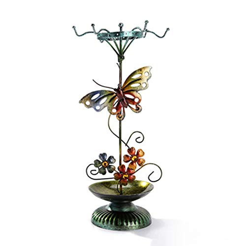YANGLAN Jewelry Display Stand, Vintage Butterfly Jewelry Stand, Hanging Earrings Bracelet Storage Rack, Home Creative Storage Tray, Decoration
