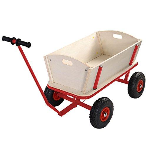 eight24hours-children-kids-toys-cart-wagon-stroller-outdoor-garden-tools-w-wood-railing-new