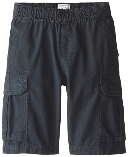 The Children's Place Little Boys' Pull-On Cargo Shorts, Washed Black, 7