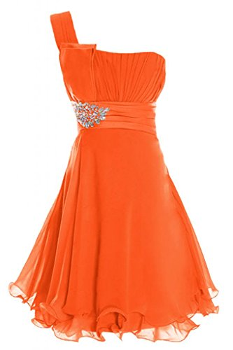 Cocktail spalla Una Chiffon Sunvary Arancione Prom in Chiffon da Homecoming Vestito Dress Abito HAwPqT
