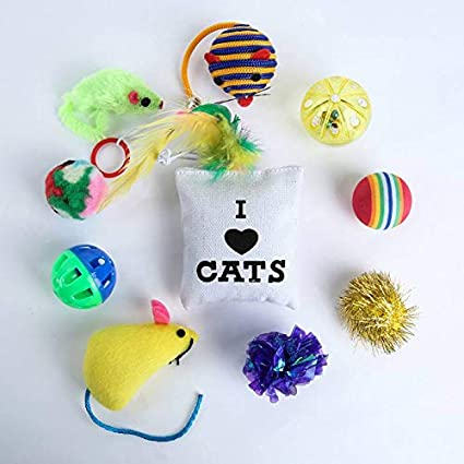Amazon.com : Best Quality 10/14 Variety Small Mini Playing Mouse Toys Gift for Cats Dogs Kitten Value pet Toys Packs, Mouse, Ball, Socks : Pet Supplies