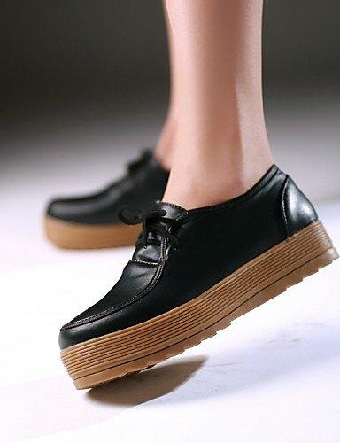 us6 confort Marron Plateforme Njx Beige Bureau Décontracté Eu36 Cn36 Jaune Travail Habillé Uk4 Extérieure Femme Noir amp; Brown Bout Chaussures wxwBOza
