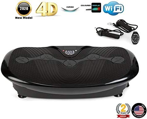 GLOBAL RELAX Zen Shaper Plus Vibration Plate – Black 2020 New Model – Fitness oscillating Vibration Platform MP3 Music 3 Exercise Areas Walk-Jogging-Running -2 Years Warranty