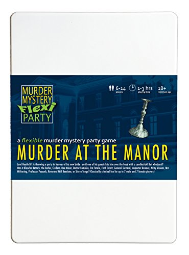 Murder Mystery Flexi Party Murder at The Manor 6-14 Player Dinner Party -