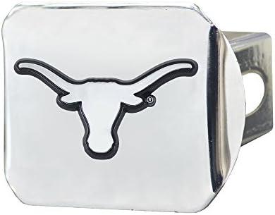 CC Sports Decor NCAA University of Texas Longhorns Chrome Hitch Cover Automotive Accessory