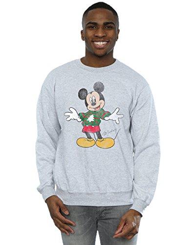 Entrenamiento Mickey De Sport Gris Hombre Camisa Jumper Christmas Mouse Disney 0xUq4Fwq