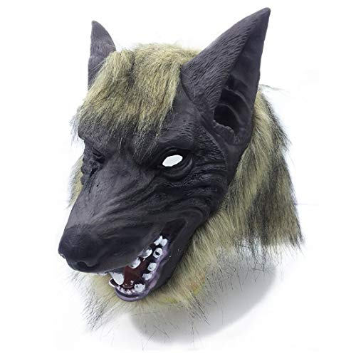 CHENMA Scary Halloween Werewolf Cosplay Costume Mask for Adults Party Decoration Props (Mask)