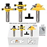 what is beadboard Valiant Tongue and Groove Router Bit Tool Set ½'' Shank With 45° Lock Miter Bit ½'' Shank - Solid Steel, Anti Kickback Design, Easy Operation - For Doors, Tables, Shelves, Walls, DIY Woodwork & More