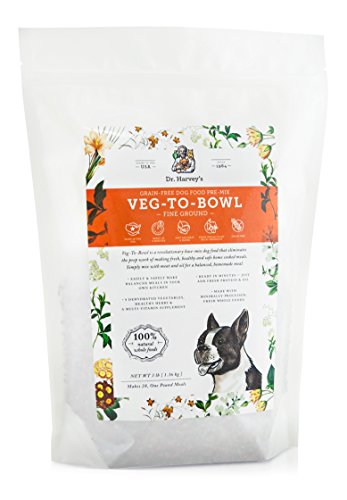 Dr. Harvey's Veg-to-Bowl Fine Ground Dog Food, Human Grade Dehydrated Base Mix for Dogs, Grain Free Holistic Mix for Small Dogs or Picky Eaters (3 Pounds) (All The Best Fine Foods)