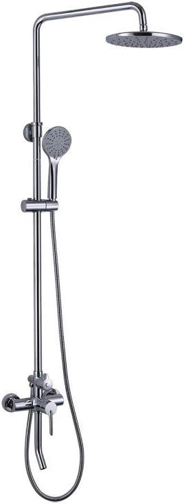 壁シャワーシステム、バスルームデラックスシャワーセット、豪華なレインミキサー、レインシャワーハンドシャワー - サーモスタットシャワーコラムセット