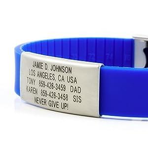 Road ID Bracelet - the Wrist ID Slim 2 - Identification Bracelet, ID Wristband, Child ID, and Sport ID - Fits Adults & Kids