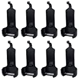 Walkie Talkie Belt Clip 8 Pack Compatible for WLN KD-C1 AP-100 Retevis RT22 Zastone X6 NKTECH NK-U1 Zeadio ZS-B1 LUITON LT-316 TIDRADIO TD-M8 RADTEL RT-10 RADIODDITY R1 Two Way Radio (Black)