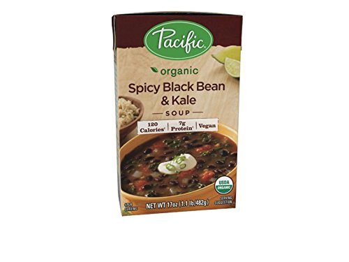 Pacific Foods Organic Soup, Spicy Black Bean and Kale, 17 Ounce (Pack of 12) by Pacific Foods