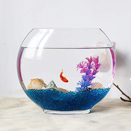 Transparent Glass Sea Fish Tank Integrated Molding Fish Tank Aquarium Home Living Room Decoration Thick Wall Hyonic Vase   C style, Fish tank