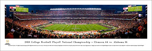 2018 College Football National Championship - Clemson vs Alabama - Unframed Poster by Blakeway Panoramas