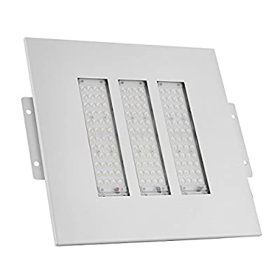 SucceBuy LED Canopy Light Gas Station 100W LED Gas Station Light IP65 Gas Station Canopy Lights Commercial Lighting Celling Light Daylight White Ceilling Mounted Canopy Parking Garage Lighting