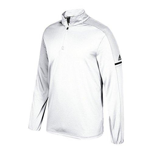adidas Game Built Long Sleeve Quarter White-black 0tqgrrgDT7