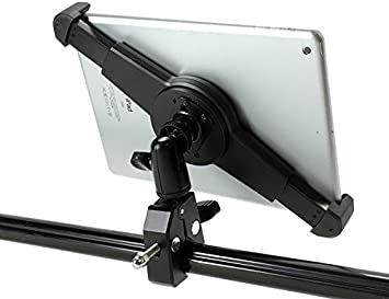 Compatible with iPad Pro /& 8-13 Tablets iShot G10 Pro Large iPad Pro Universal Tablet Tripod Monopod Mic Music Stand Mount Adapter Holder HD Metal Pipe Pole Bar Clamp w// 360/° Swivel Ball