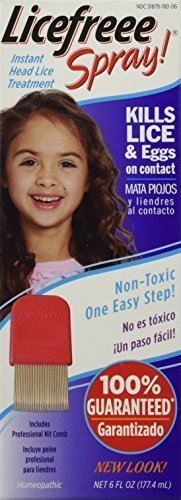 Licefreee Spray Instant Head Lice Treatment 6 Oz (3 Pack) by Licefreee